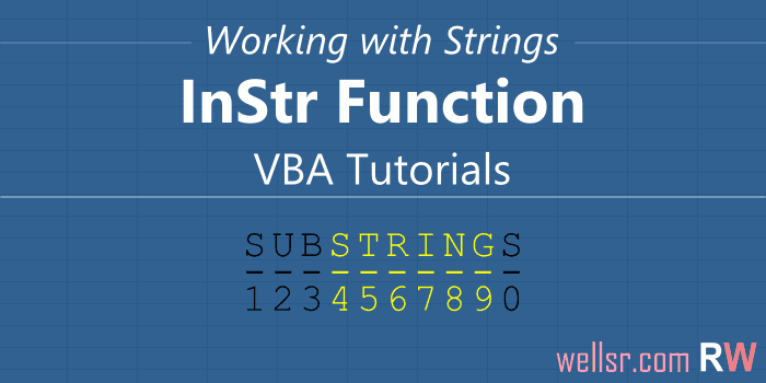 Use VBA InStr to Test if String Contains Substring