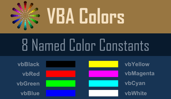how to change the theme palette of excel vb