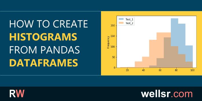 Create Histograms from Pandas DataFrames - wellsr com