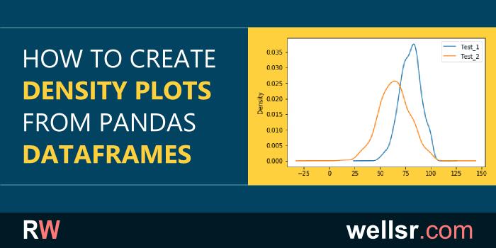 Create Pandas Density Plots from DataFrames - wellsr com