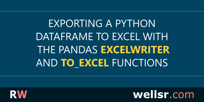 Exporting DataFrames to Excel with Pandas ExcelWriter