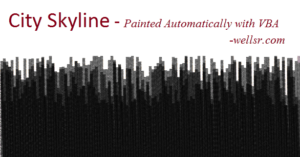 MS Paint Skyline Art with VBA Macro