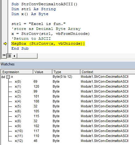 Unicode, Decimal, ASCII and more with VBA StrConv - wellsr com