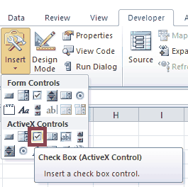 Excel VBA ActiveX Checkboxes
