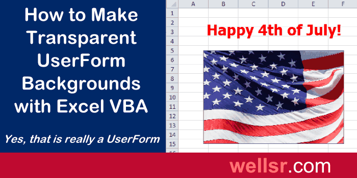 Transparent UserForm Background with VBA