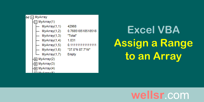 Excel vba assign range to array wellsr ibookread Download