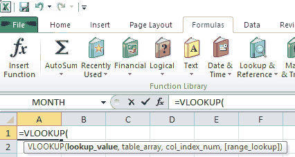 Excel Function Arguments List