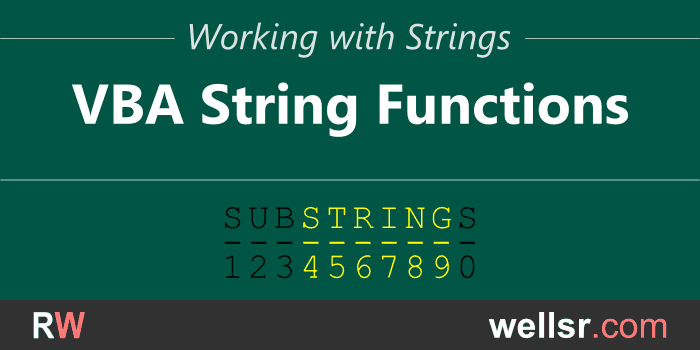 VBA String Functions and how to use them - wellsr com