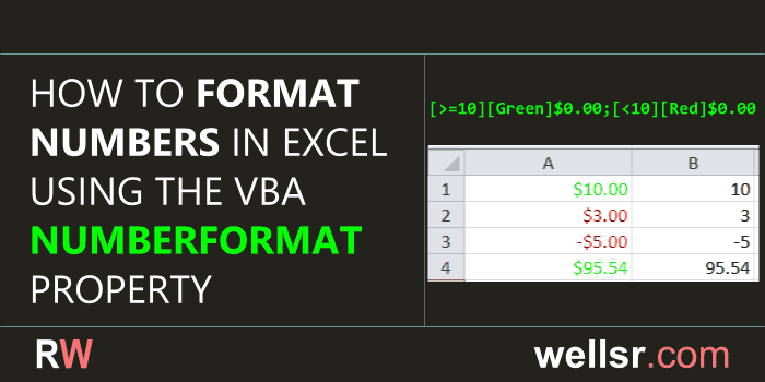 Format Numbers with VBA NumberFormat - wellsr com