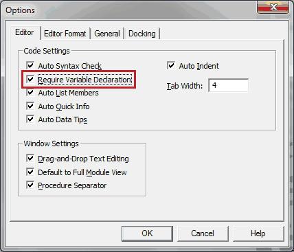VBA Option Explicit - wellsr com