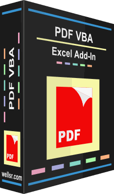 VBA PDF Excel Add-in